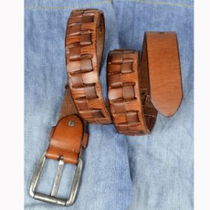 New Stylish Men′s Genuine Leather Belt Fashion Male Accessories Yellow pictures & photos