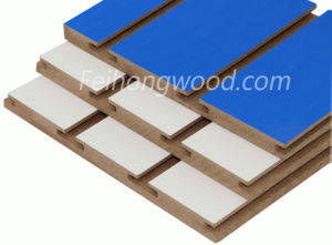 Slotted MDF Board, Melamine Slotted MDF, Grooved MDF pictures & photos