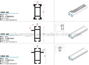 Z042/Z043/Z044 Beam Extrusion for Octanorm System Modular Exhibition Booth pictures & photos