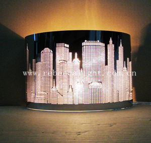 Laser-Cutted Stainless Steel Table Lamp for Indoor Hotel Project pictures & photos