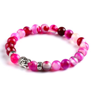Fashion Crystal Agate Beaded Bracelet Jewelry (ESB012004) pictures & photos