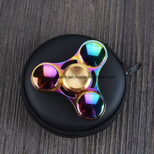Colorful Rainbow 3 Leaves Metal Fidget Finger Spinner Toys pictures & photos