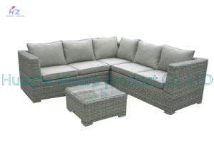 Rio Patio Set Outdoor Patio Rattan Sofa Wicker Sectional Sofa Garden Furniture Set with Bed Furniture pictures & photos