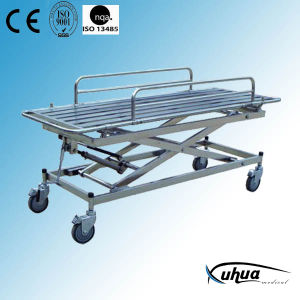 Stainless Steel Height Adjustable Patient Stretcher Trolley (G-6) pictures & photos