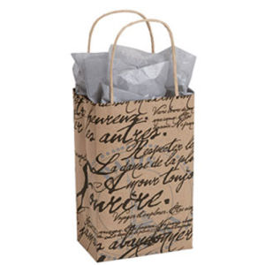 Small Paris Script Paper Shoppper Shopping Paper Bags pictures & photos