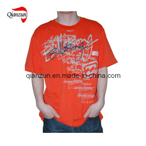 Fashion Cotton and Polyester Orange Men′s T-Shirts (ZJ119) pictures & photos