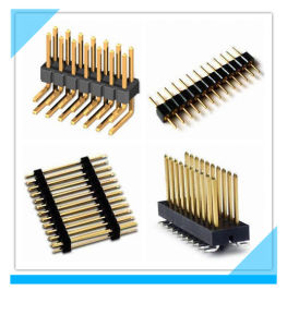 China Factory Straight 90 Degree 1.27mm 2.54mm Pitch Pin PCB Header pictures & photos