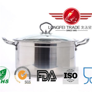 Stainless Steel European Style Soup Pot pictures & photos