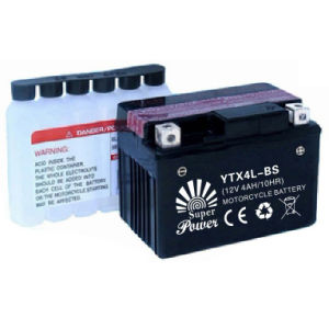 Dry Charged and Maintenance Free Motorcycle Battery 6N 12N YTX Serial with Long Storage Life pictures & photos