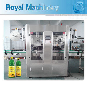 Automatic Double Head Bottle and Cap Shrink Sleeve Labeling Machine pictures & photos
