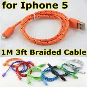 Colorful Nylon Fabric Braided USB Cable for iPhone5 pictures & photos