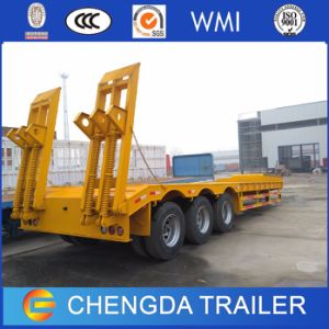 3 Axles 60 Tons 80tons Lowboy Semi Trailer for Sale pictures & photos