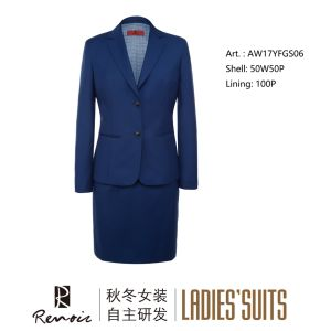 OEM 2 Piece Notch Lapel Business Suit pictures & photos