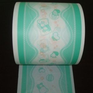 Colorful Printed Soft PE (polyethylene) Film for Diaper Material pictures & photos