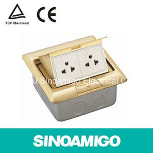 Brass Raised Floor Box Pup up Slowly Floor Socket Floor Outlet Box Floor Socket Connactor pictures & photos