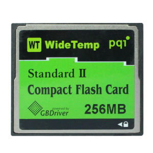 Wt Pqi Standard II Industrial Compactflash CF Memory Card 256MB Wide Temp Flash Card pictures & photos