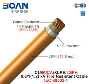 Cu/Mica/XLPE/Lsfh, Fire Resistant Cable, 0.6/1 Kv, 1/C (IEC 60502-1) pictures & photos