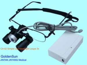 Medical Lighted Loupes Surgical Operation Magnifying Glass 3X Ent Light Loupes pictures & photos