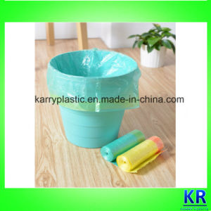 Plastic Carrier Bags HDPE Garbage Bag with Drawtape pictures & photos
