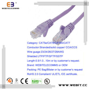 Cat5e/CAT6/CAT6A/ Cat7 FTP F/UTP Patch Cord/Patch Cable pictures & photos