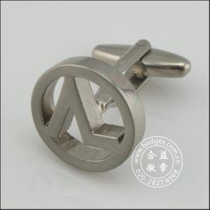 Hollow Silver Round Cufflinks, Metal Cufflink (GZHY-XK-084) pictures & photos