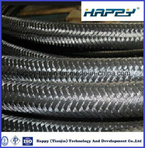 Single Wire Braid Textile Covered Hydraulic Hose SAE R5 pictures & photos