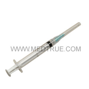 CE/ISO Approved Luer Lock Auto-Destruct Disposable Syringe with Needle (MT58005432)