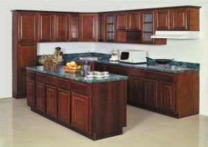 American Solid Wood Kitchen Cabinet (birch) pictures & photos