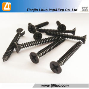 DIN18182 Black Phosphated Fine Thread Drywall Screws pictures & photos