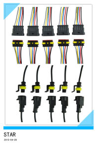 1/5 Pin Way Car Waterproof Electrical Connector Plug with Wire AWG pictures & photos