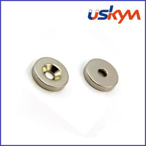 N35 Nickel Ndfbe Magnet with Taper Hole (S-005) pictures & photos