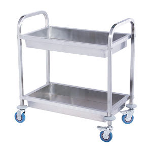 2-Layer Stainless Steel Trolley for Kitchenroom