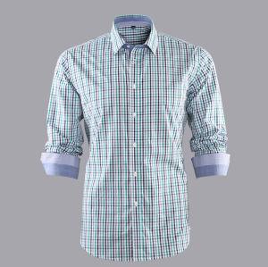 100% Cotton Check Fabric Plaid Check Casual Men Shirt