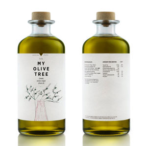 500ml Olive Oil Glass Bottle with Wooden Cap