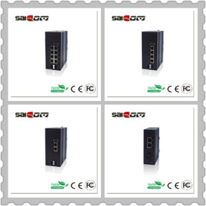 100Mbps 2 Fx+4 Fe Industrial Unmanaged Fiber Network Switch pictures & photos