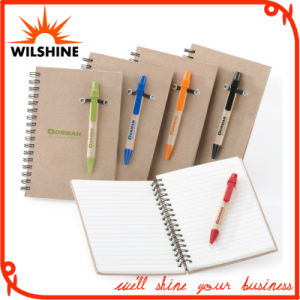 Best Selling Customized Kraft Paper Cover Spiral Notebook (SNB123) pictures & photos