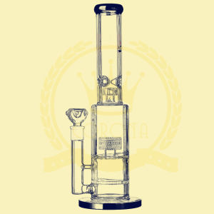 Dual Birdcage Percolator Glass Smoking Water Pipe with Factory Price High Quality Recycler Tobacco Glass Smoking Water Pipe pictures & photos