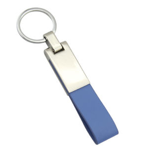 Promotion Metal Imprint 2 Side Logo Leather Key Chain (F3030) pictures & photos