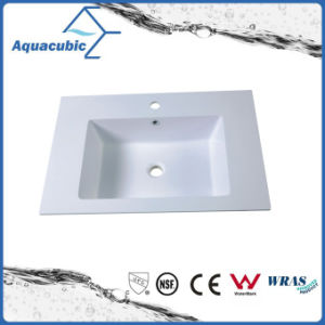 Artificial Marble Rectangular White Wash Basin Acb7504A pictures & photos