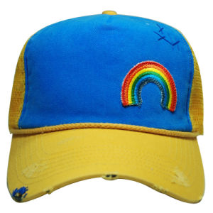 Contrast Thick Stitching Print Embroidery Sport Baseball Trucker Hat (TRT015) pictures & photos