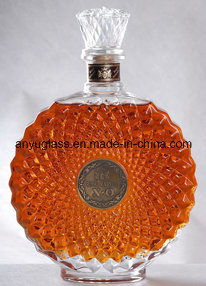 Wholesale Empty Round Super Flint Glass Whiskey Brandy Xo Bottle for Wine, Liquor pictures & photos