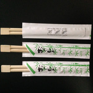 21cm Twin Chopsticks with Opened Paper Cover pictures & photos