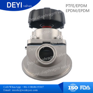 Stainless Steel Sanitary Tank Bottom Diaphragm Valve (DY-DPV105) pictures & photos