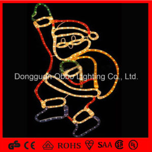 China 2d outdoor christmas decoration light rope motif for Pere noel decoration exterieur