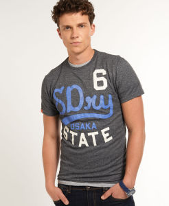 OEM Men Rubber Printed Cotton Jersey Wholesale T-Shirt pictures & photos