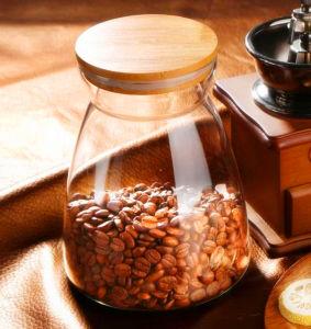 Beautiful Tea Storage Jar Kitchen Borosilicate Glass Candy Jar Storage Bottle Coffee Jar pictures & photos