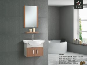Luxury Hotel & Home Modern Stainless Steel Bathroom Vanity Furniture Set Bathroom Cabinet with Mirror (J-8643)