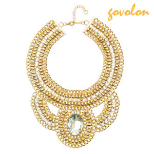 Golden Metal Necklace with Crystal Pendant pictures & photos