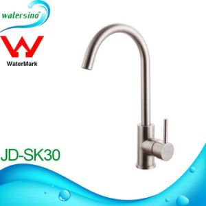 Single Lever Swivel Brass Goose Neck Kitchen Sink Faucet Mixer Tap pictures & photos