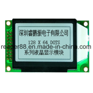 Built in Controller Nt7107 Stn Yellow Green 128X64 COB Graphic LCD Module pictures & photos